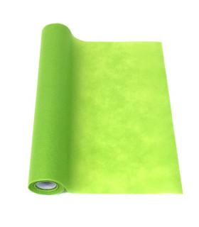 Chemin de table intissé uni Vert Lime