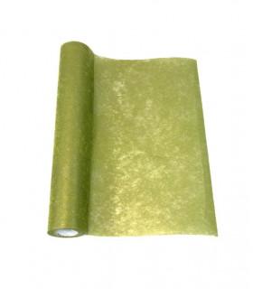 Chemin de table intissé Brillant Vert Olive