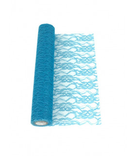Chemin de table dentelle Bleu Azur