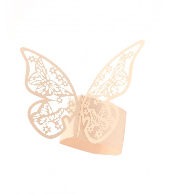 rond de serviette mariage bapt me peche papillon. Black Bedroom Furniture Sets. Home Design Ideas