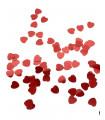 Confettis de table coeur 10mm Rouge