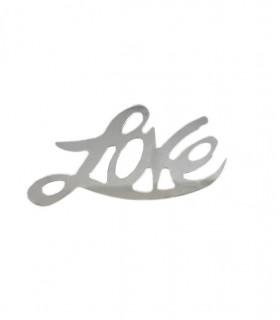 """Confettis de table """"Love"""" 10mm Argent"""