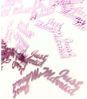"Confettis de table ""Just Married"" 10mm Rose"