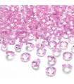 Confettis de table cristal, diamant 8mm Rose