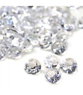 Confettis de table cristal, diamant 10mm Translucide