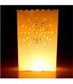 Lanterne Sol motif soleil Blanc 10 pcs