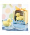 Savon canard cadeaux invités baby shower Jaune