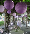 Lanterne en papier chinois boule deco Parme