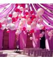 Lanterne en papier chinois boule deco Rose Pastel