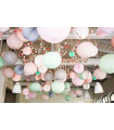 Lanterne en papier chinois boule deco Turquoise