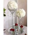 Fleurs artificielles deco 6cm Blanc 4 pcs