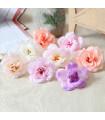 Fleurs artificielles deco 6cm Rose 4 pcs