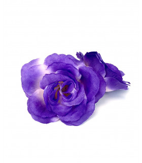 Fleurs artificielles deco 6cm Violet 4 pcs