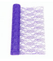 Chemin de table dentelle Violet