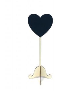 Marque Place/table table de fête motif Coeur en bois Gris 2 pcs