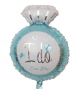 Ballon I DO deco salle mariage Bleu