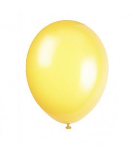 Ballon opaque sachet de 100 deco salle Jaune