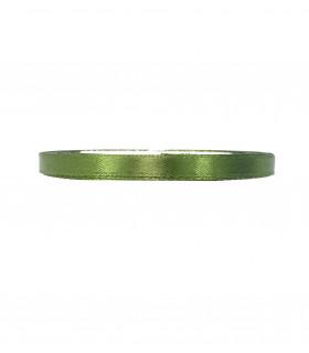 Ruban satin 6mm 23m Vert Olive