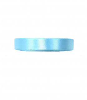 Ruban satin 15mm 22m Bleu Ciel
