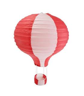 Suspension mongolfière bicolore Rouge