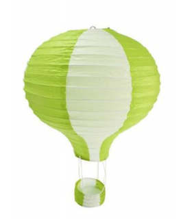 Suspension mongolfière bicolore Vert Lime