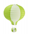 Suspension mongolfière bicolore Vert Lime
