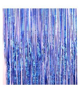 Rideau scintillant 92 cm x 245 cm Bleu Électrique