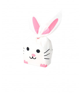 Contenant dragées sachet bonbon petit lapin Blanc 10 pcs