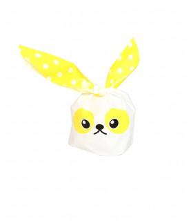 Contenant dragées sachet bonbon petit lapin Jaune 10 pcs