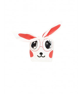Contenant dragées sachet bonbon petit lapin Rouge 10 pcs