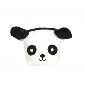 Contenant dragées grand sachet bonbon panda Blanc Et Noir 10 pcs