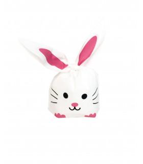 Contenant dragées grand sachet bonbon lapin Blanc 10 pcs