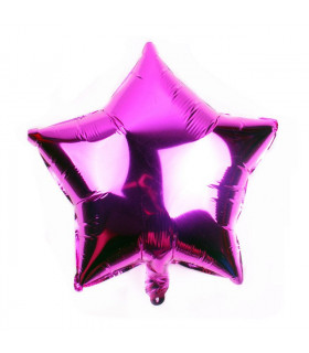 Ballon Géant étoile 45cm anniversaire Fuchsia