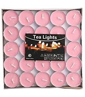 Boite de 50 bougies chauffe plat Rose