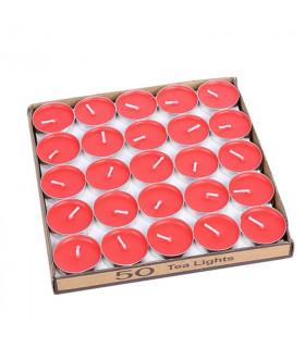 Boite de 50 bougies chauffe plat Rouge