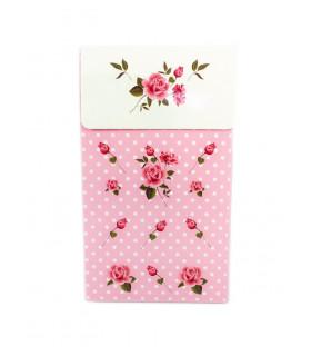 Sachet vintage motif floral Rose 6 pcs