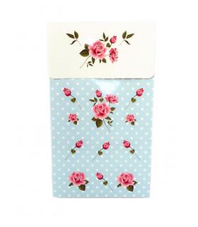 Sachet vintage motif floral Bleu 6 pcs