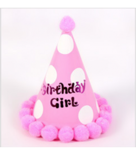 Chapeau anniversaire 4pcs Birthday Girl Rose