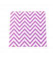 Serviette en papier motif chevrons festive Violet 20 pcs