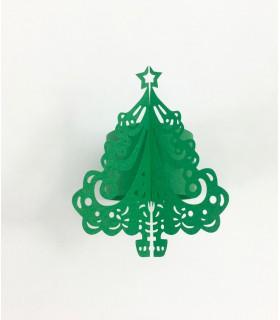 Rond de serviette sapin Noël Vert 12pcs