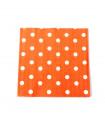 Serviette en papier motif pois festive Orange 20 pcs