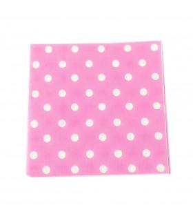 Serviette en papier motif pois festive Rose 20 pcs