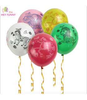 Ballon animaux de la jungle multicolore 100pcs