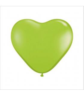 Ballon coeur Vert Lime 100pcs