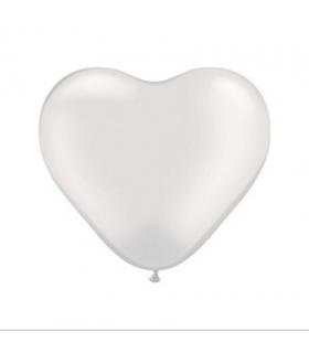 Ballon coeur blanc 100pcs