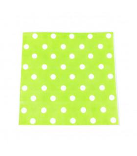 Serviette en papier motif pois festive Vert 20 pcs