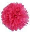 Pompon deco salle papier de soie Fuchsia