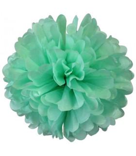 Pompon deco salle papier de soie Bleu Turquoise