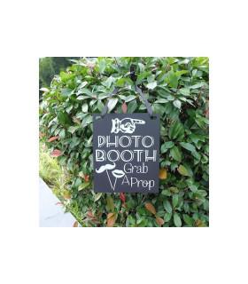 Panneau photobooth effet ardoise Noir