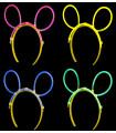 Serre tête oreilles de souris fluo lumineux Bleu